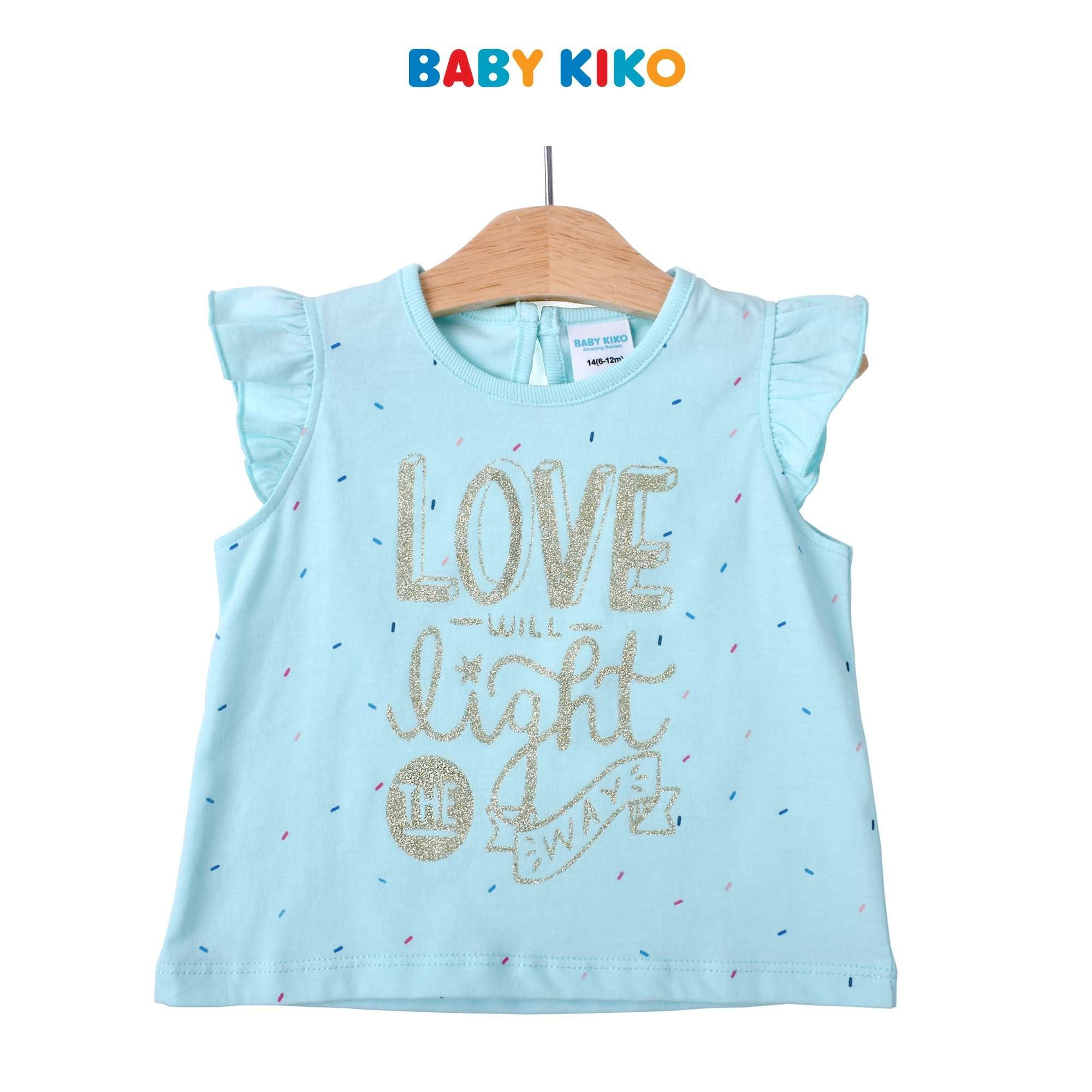 Baby KIKO Baby Girl Sleeveless Tee- Blue 330140-113 : Buy Baby KIKO online at CMG.MY