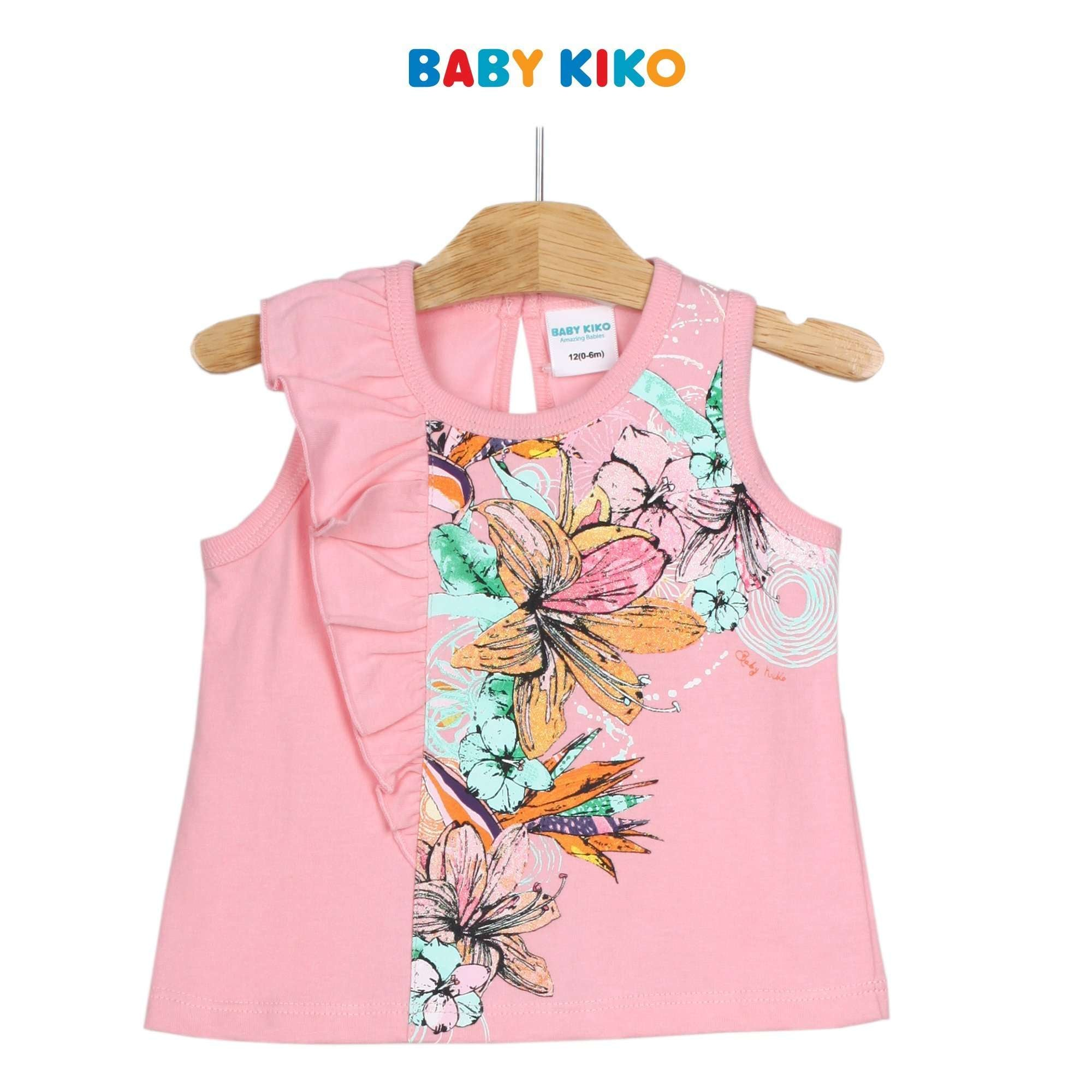 Baby KIKO Baby Girl Sleeveless Tee 330075-101 : Buy Baby KIKO online at CMG.MY