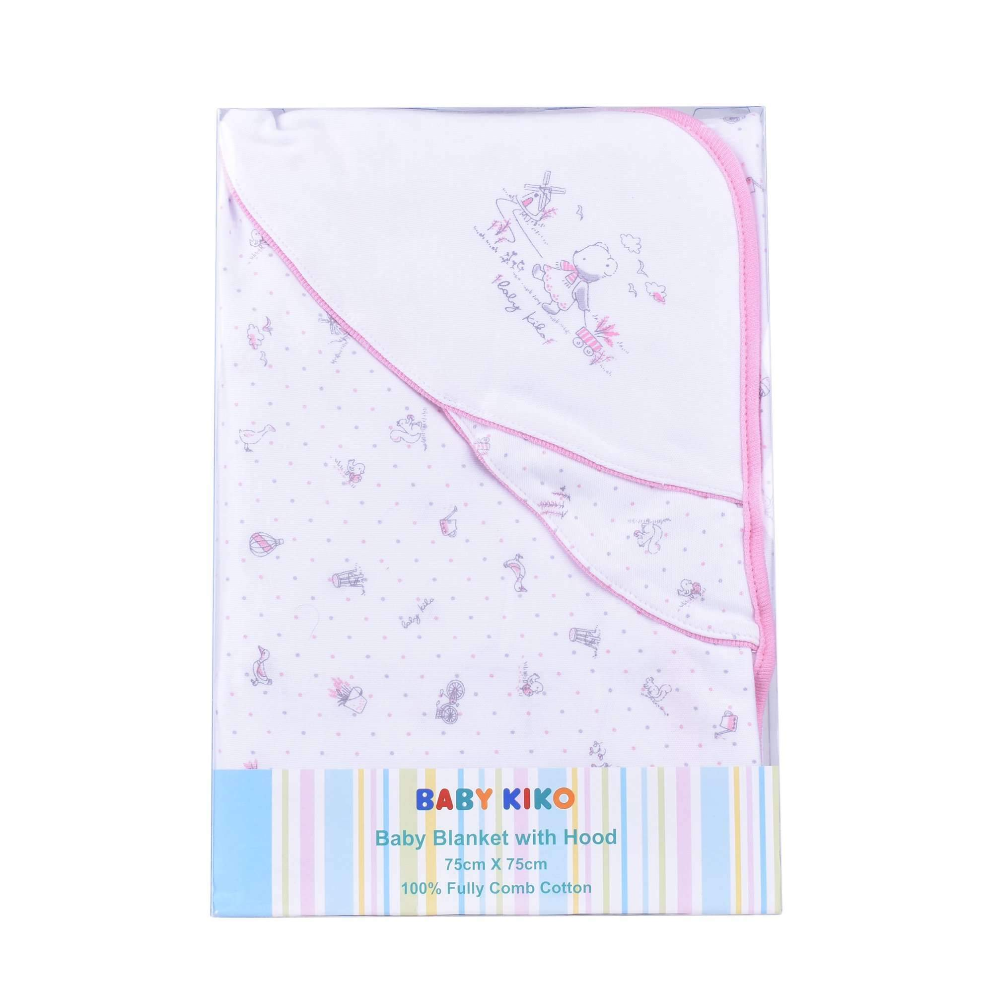 Baby KIKO Baby Girl Hooded Blanket Full Print 3642-002 : Buy Baby KIKO online at CMG.MY