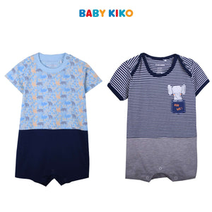 BABY KIKO BAY BOY BASIC KNIT ROMPER - Blue B921103-3608-N1 : Buy Baby KIKO online at CMG.MY