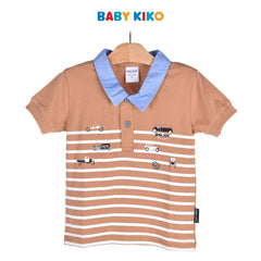 Baby KIKO Toddler Boy Short Sleeve Collar Tee 335099-121 : Buy Baby KIKO online at CMG.MY
