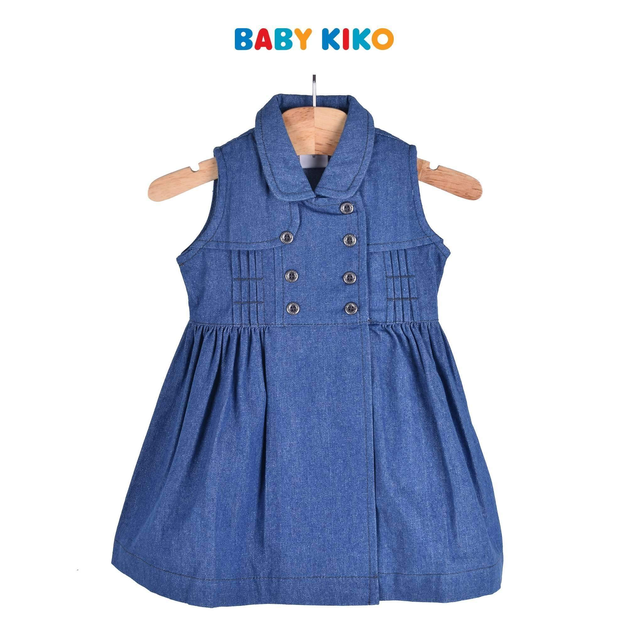 Baby KIKO Toddler Girl Sleeveless Dress Denim 301 Kids Baby