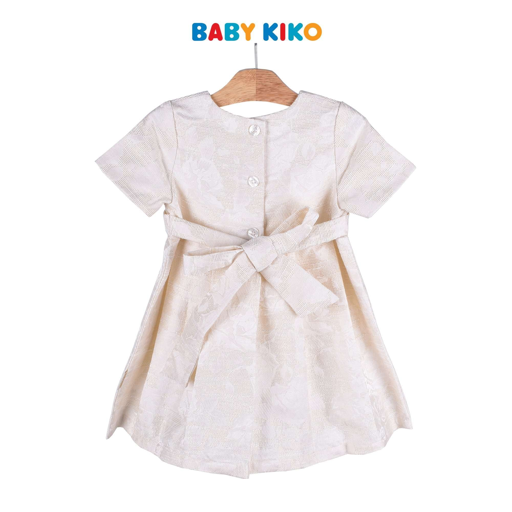 Baby KIKO Girl Short Sleeve Dress Jaquard Silver 315115-312 : Buy Baby KIKO online at CMG.MY