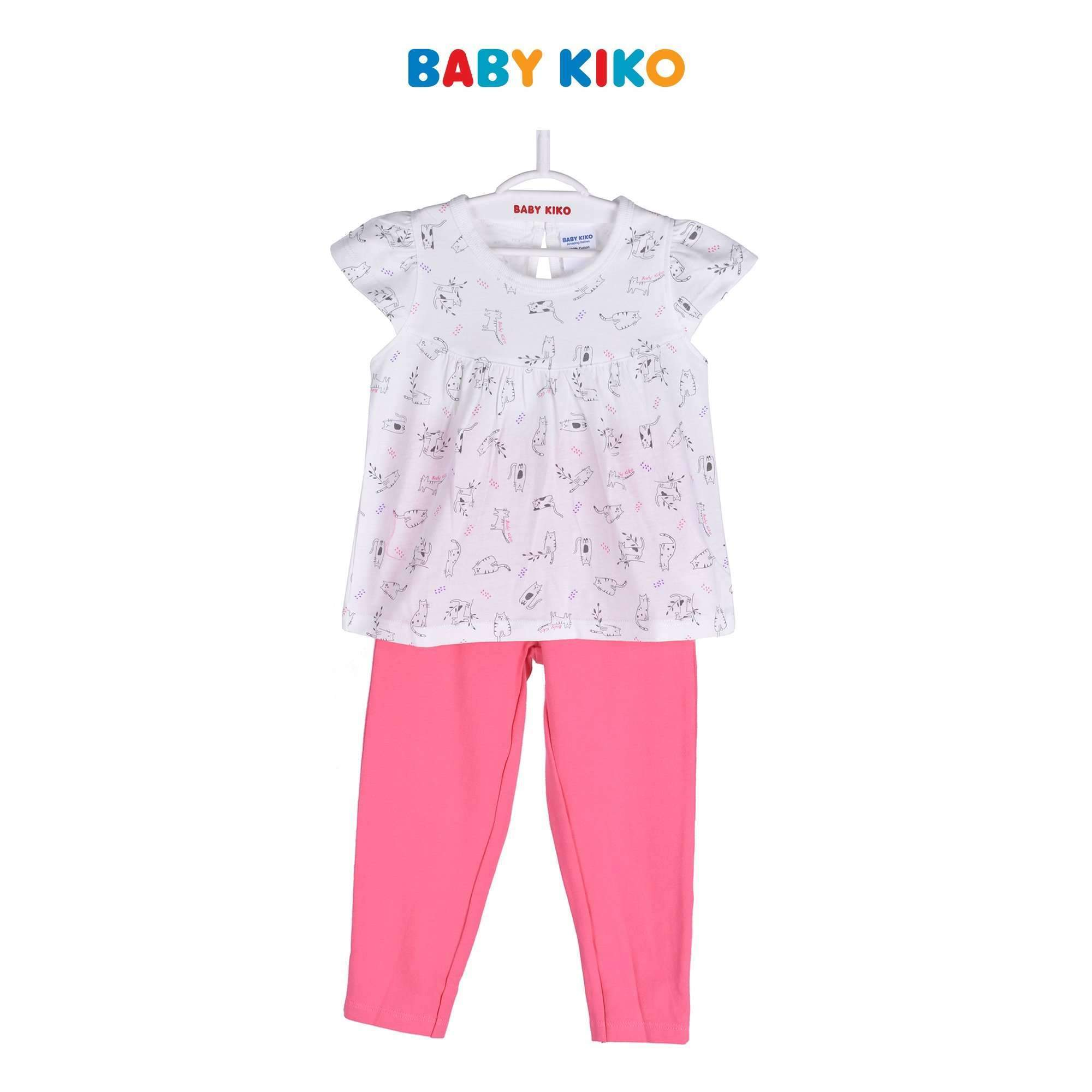 Baby KIKO Girl Short Sleeve Legging Suit - Pink 325111-422 : Buy Baby KIKO online at CMG.MY
