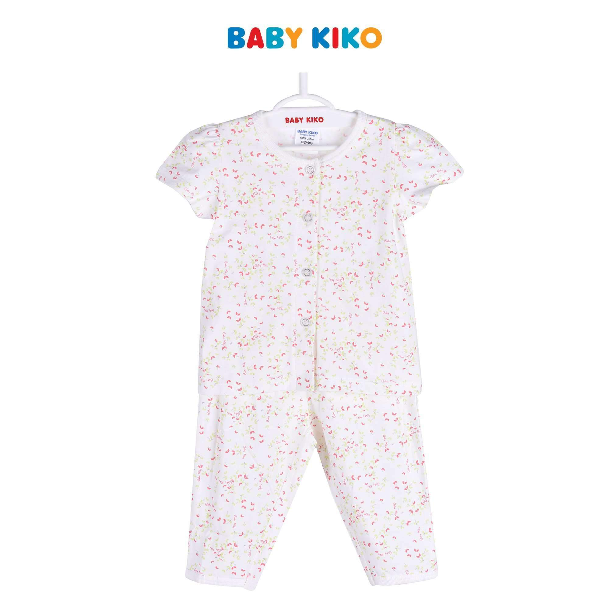 Baby KIKO Baby Girl Short Sleeve Long Pants Suit - Off White 320081-421 : Buy Baby KIKO online at CMG.MY