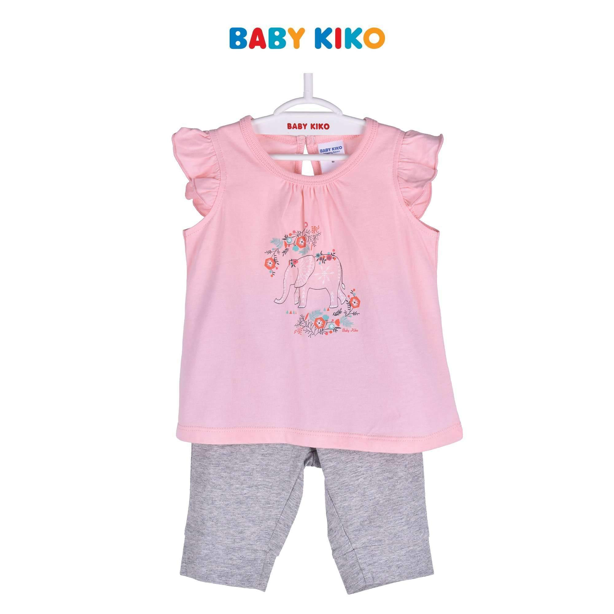 Baby KIKO Toddler Girl Sleeveless Legging Suit - Pink 325109-402 : Buy Baby KIKO online at CMG.MY