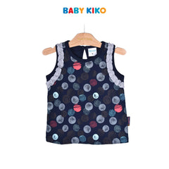 Baby KIKO Toddler Girl Sleeveless Tee 335120-101 : Buy Baby KIKO online at CMG.MY
