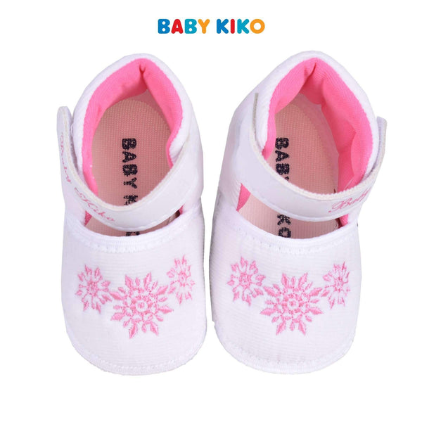 Baby KIKO Baby Girl Textile Shoes - White 310168-501 : Buy Baby KIKO online at CMG.MY