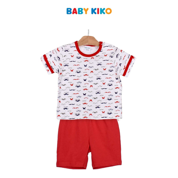 Baby KIKO Infant Boy Short Sleeve Bermuda Pants Suit -Red 320173-412 : Buy Baby KIKO online at CMG.MY