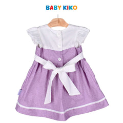 Baby KIKO Baby Girl Short Sleeve Dress - Purple Floral 310188-311 : Buy Baby KIKO online at CMG.MY