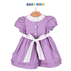 Baby KIKO Baby Girl Short Sleeve Dress - Purple Floral 310188-312 : Buy Baby KIKO online at CMG.MY