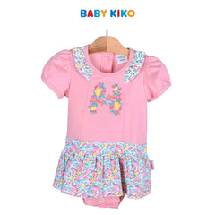 Baby KIKO Infant Girl Short Sleeve Short Romper - Pink/Floral print 330076-361 : Buy Baby KIKO online at CMG.MY