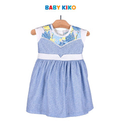 Baby KIKO Baby Girl Sleeveless Dress - Blue Floral 310189-311 : Buy Baby KIKO online at CMG.MY