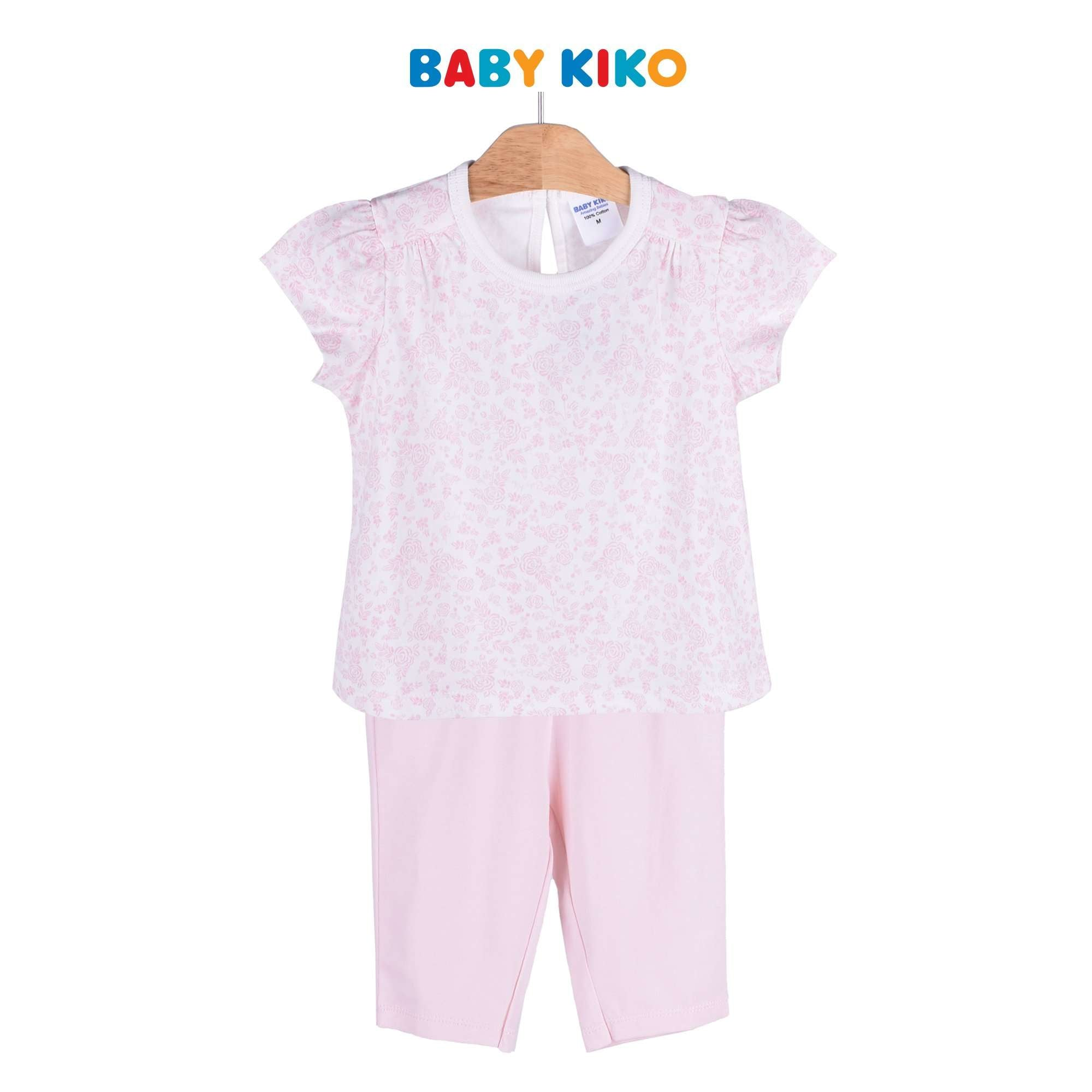 Baby KIKO Toddler Girl Short Sleeve Leggings Suit - Pink 325131-411 : Buy Baby KIKO online at CMG.MY