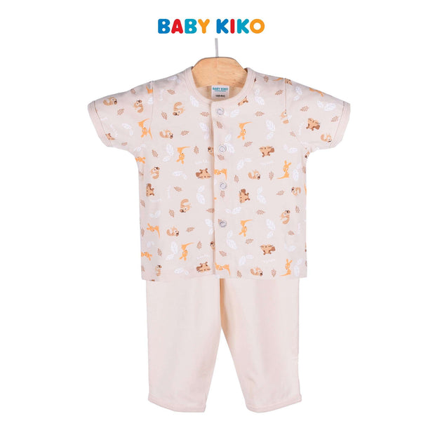 Baby KIKO Baby Boy Short Sleeve Long Pants Suit - Sand 320117-421 : Buy Baby KIKO online at CMG.MY