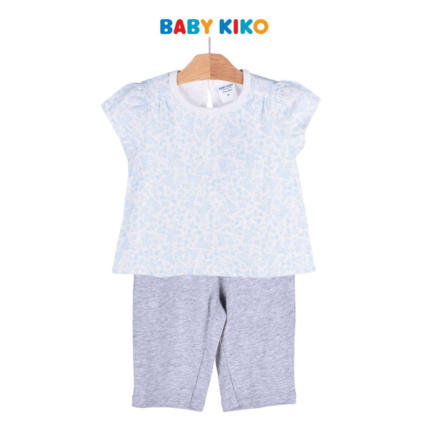 Baby KIKO Toddler Girl Short Sleeve Long Pants Suit - White 325131-413 : Buy Baby KIKO online at CMG.MY