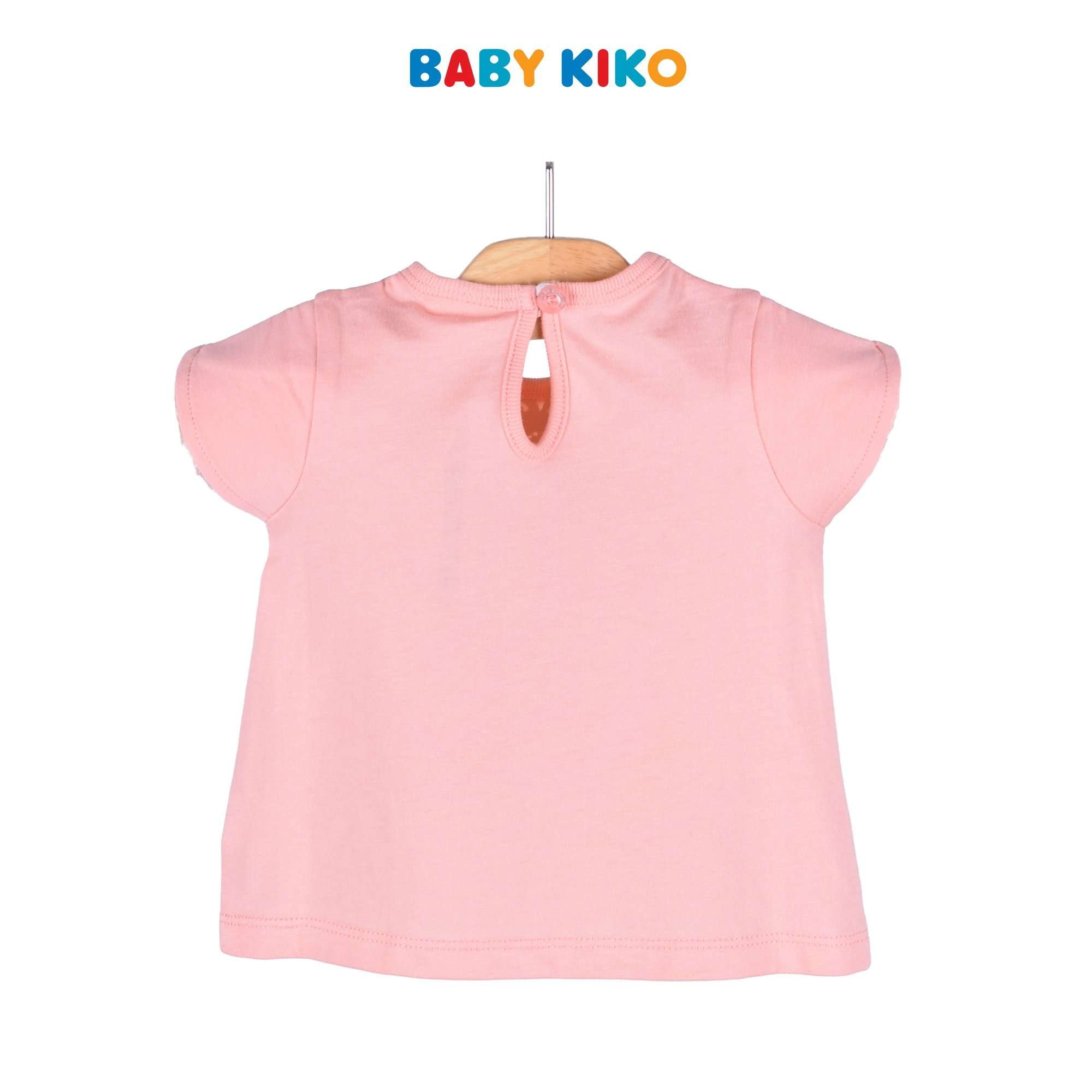 Baby KIKO Baby Girl Short Sleeve Tee Peach Knit 330054-111 : Buy Baby KIKO online at CMG.MY