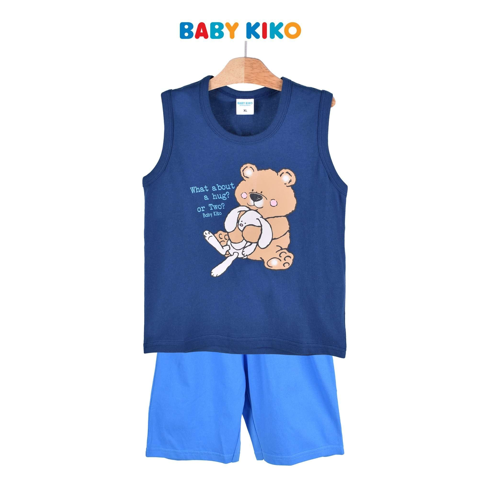 Baby KIKO Toddler Boy Sleeveless Bermuda - Black Navy 325141-401 : Buy Baby KIKO online at CMG.MY