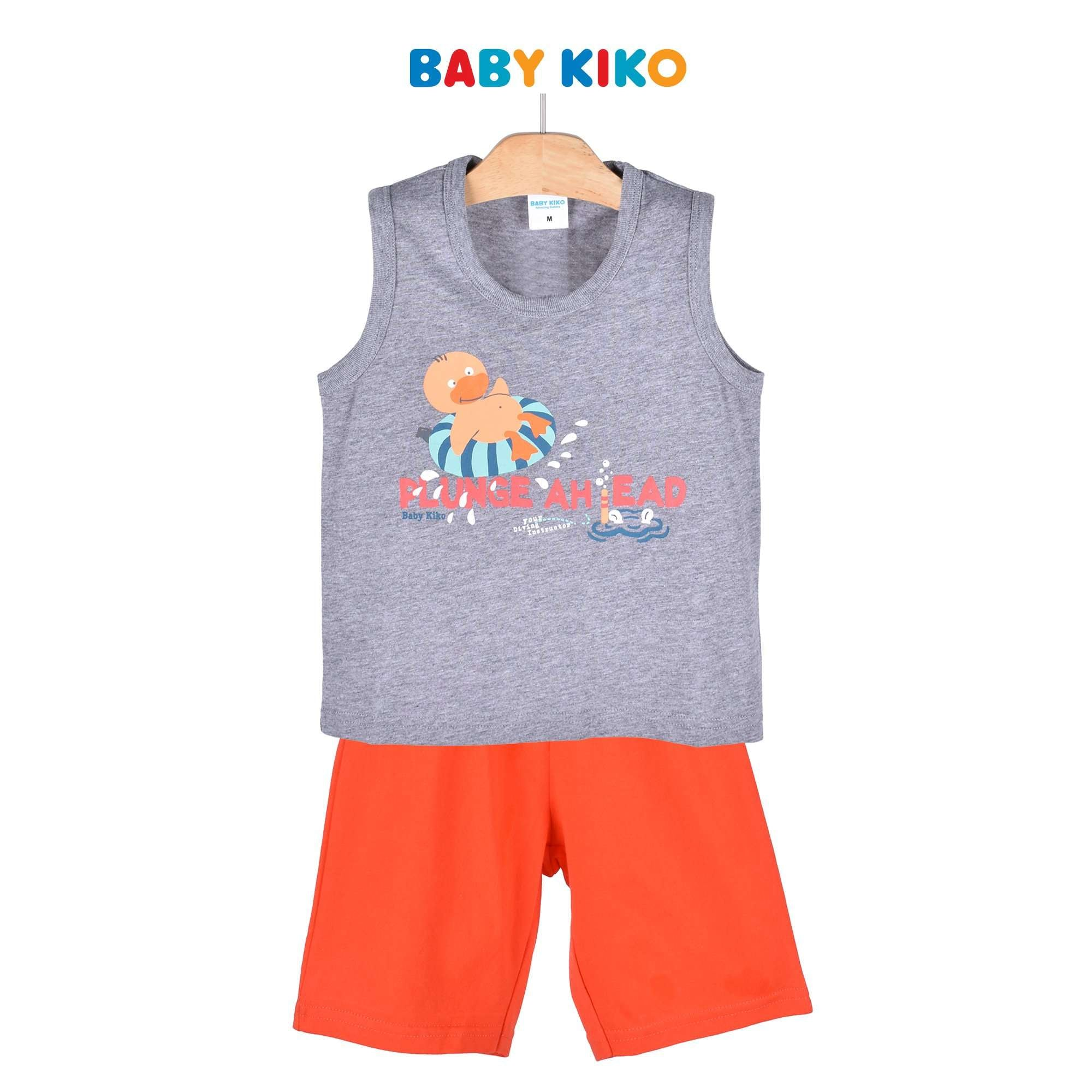 Baby KIKO Toddler Boy Sleeveless Bermuda - Melange 325141-402 : Buy Baby KIKO online at CMG.MY