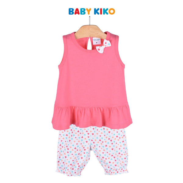 Baby KIKO Toddler Girl Sleeveless Bermuda - Pink 325168-402 : Buy Baby KIKO online at CMG.MY