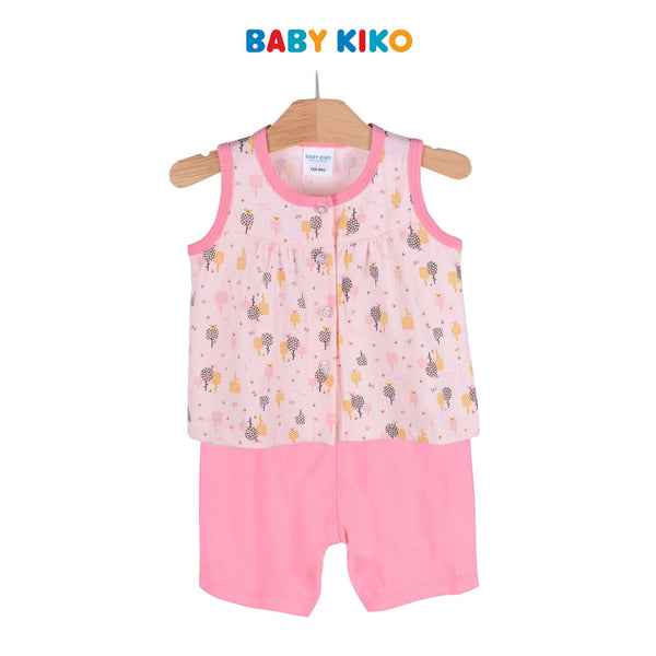 Baby KIKO Baby Girl Sleeveless Bermuda Suit - Peach 320114-401 : Buy Baby KIKO online at CMG.MY