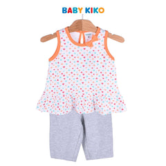 Baby KIKO Toddler Girl Sleeveless Bermuda - White 325168-401 : Buy Baby KIKO online at CMG.MY
