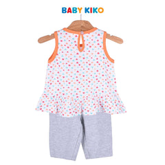 Baby KIKO Toddler Girl Sleeveless Bermuda White Knit 325168-401 : Buy Baby KIKO online at CMG.MY