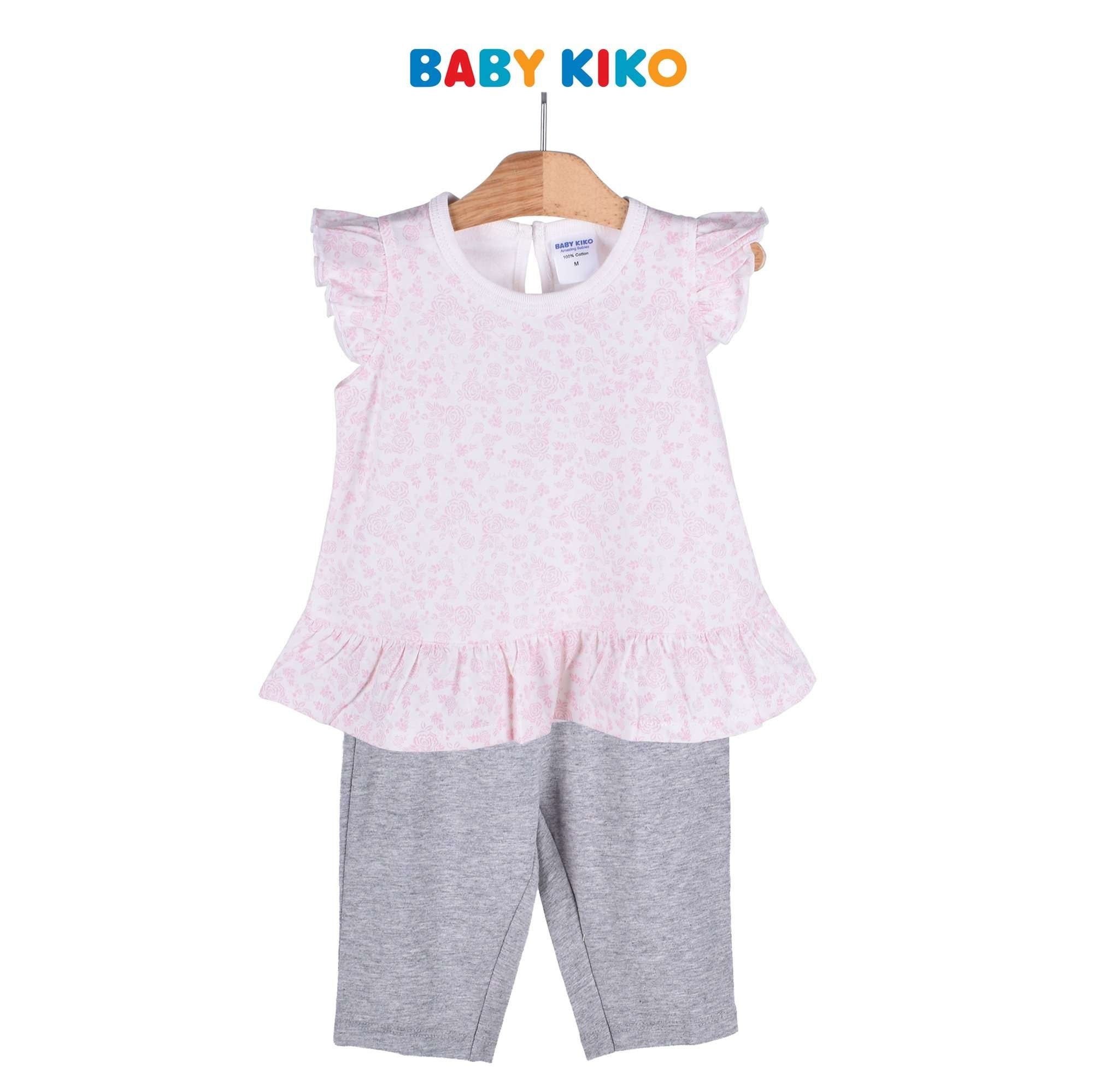 Baby KIKO Toddler Girl Sleeveless Long Pants Suit - Pink 325131-401 : Buy Baby KIKO online at CMG.MY