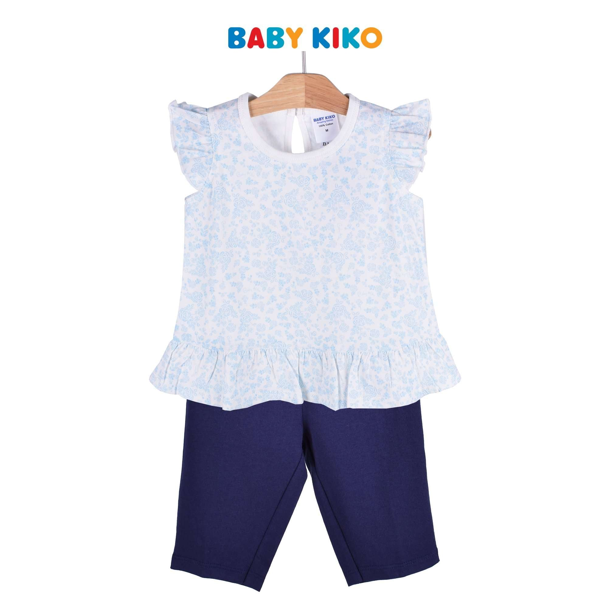 Baby KIKO Toddler Girl Sleeveless Blouse Pants Suit - White 325131-402 : Buy Baby KIKO online at CMG.MY