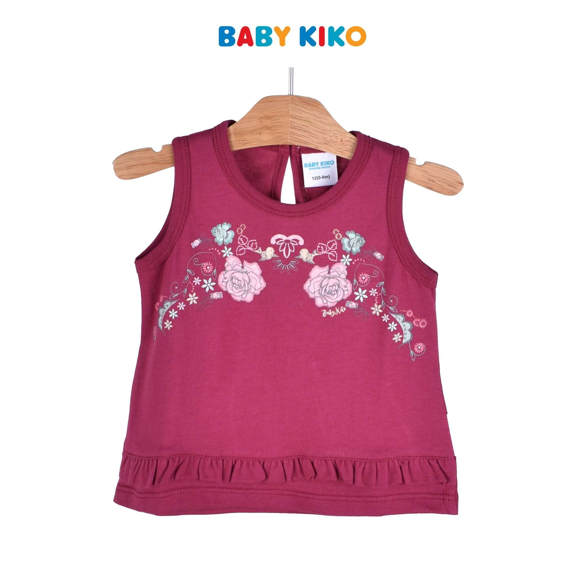 Baby KIKO Baby Girl Sleeveless Tee - Maroon 330053-101 : Buy Baby KIKO online at CMG.MY