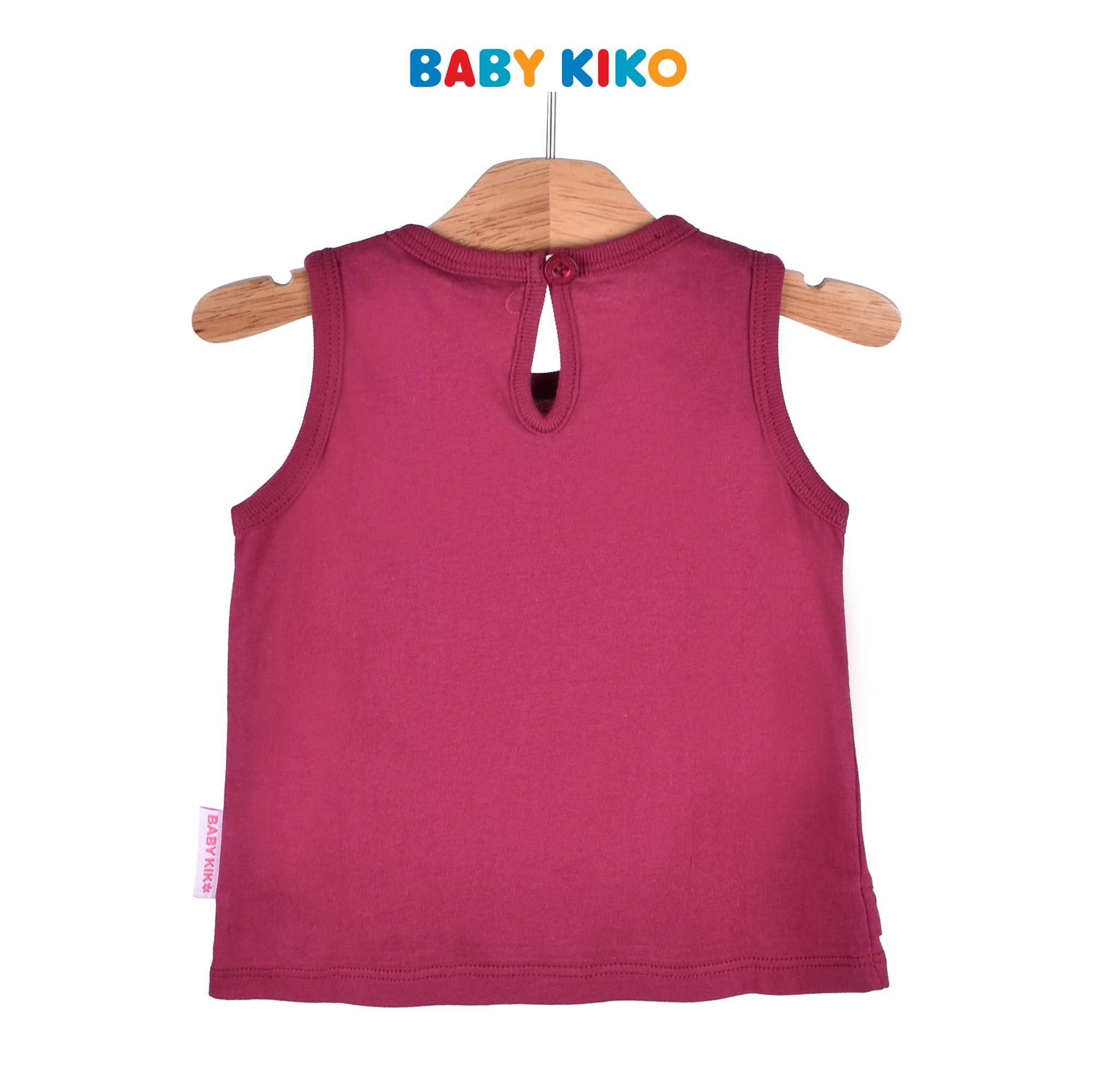 Baby KIKO Baby Girl Sleeveless Tee Maroon Knit 330053-101 : Buy Baby KIKO online at CMG.MY