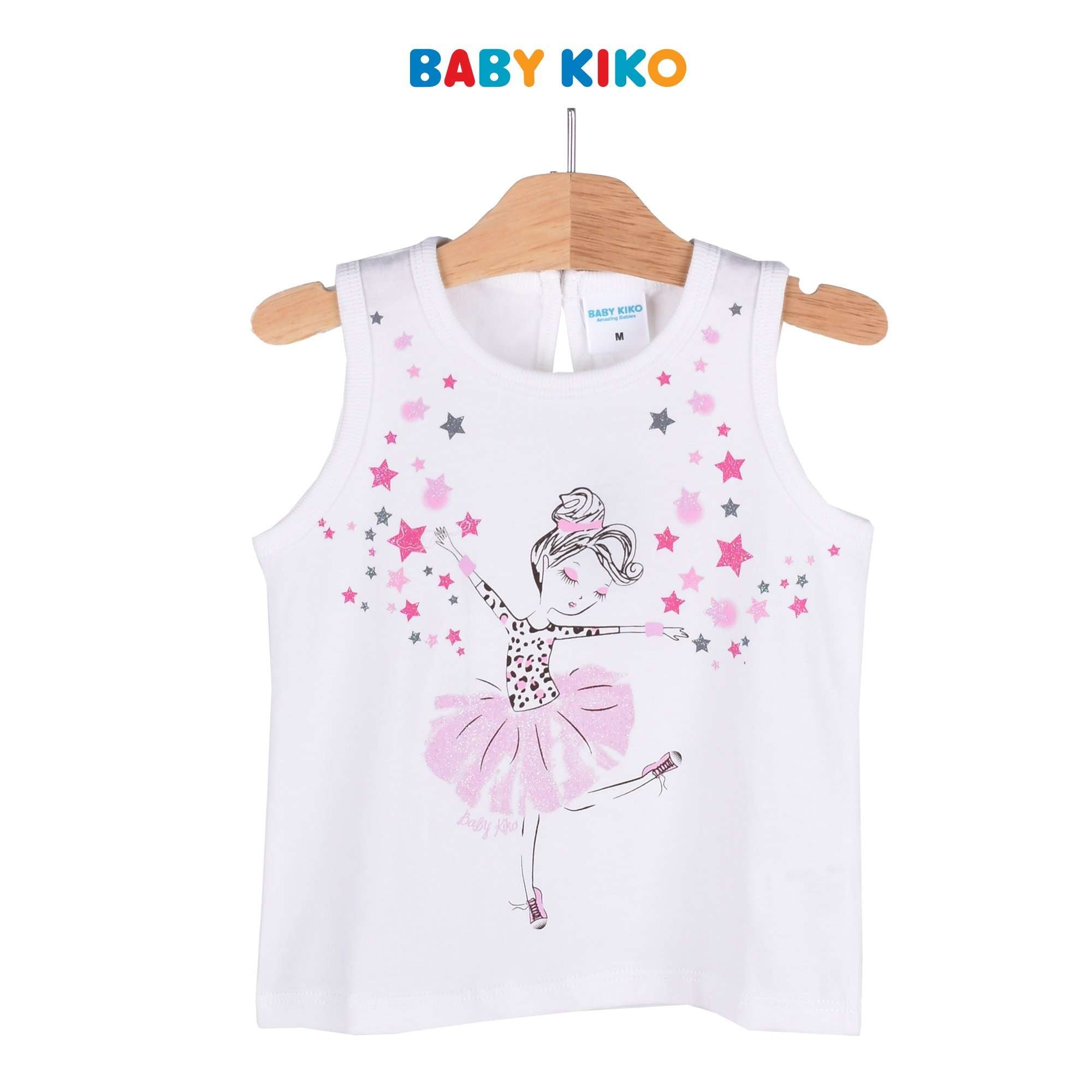 Baby KIKO Toddler Girl Sleeveless Tee - Off White 335085-101 : Buy Baby KIKO online at CMG.MY