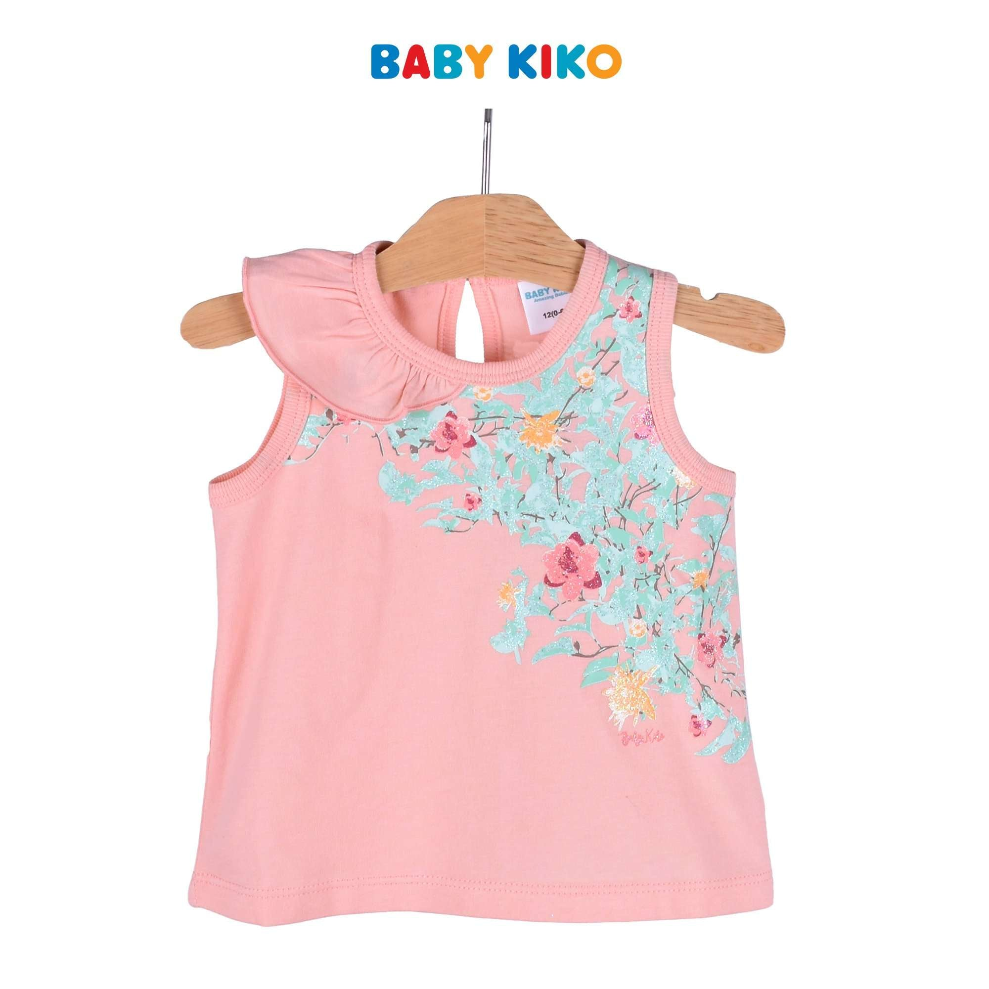 Baby KIKO Baby Girl Sleeveless Tee - Peach 330054-101 : Buy Baby KIKO online at CMG.MY