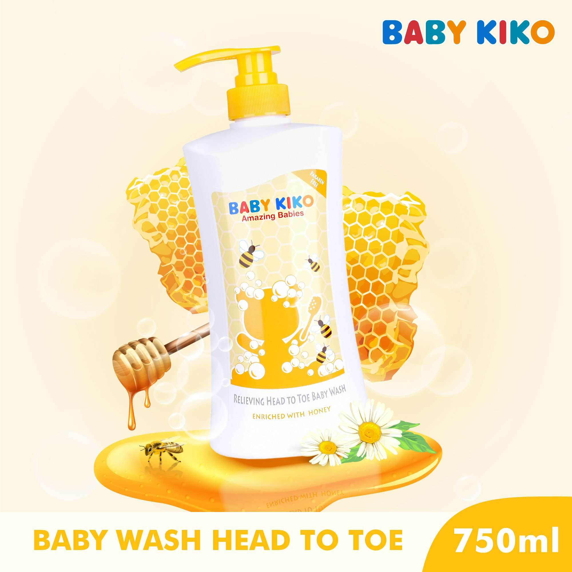 Baby KIKO Relieving Head To Toe Body Wash With Honey Extract - 750ml 3652-001 : Buy Baby KIKO online at CMG.MY