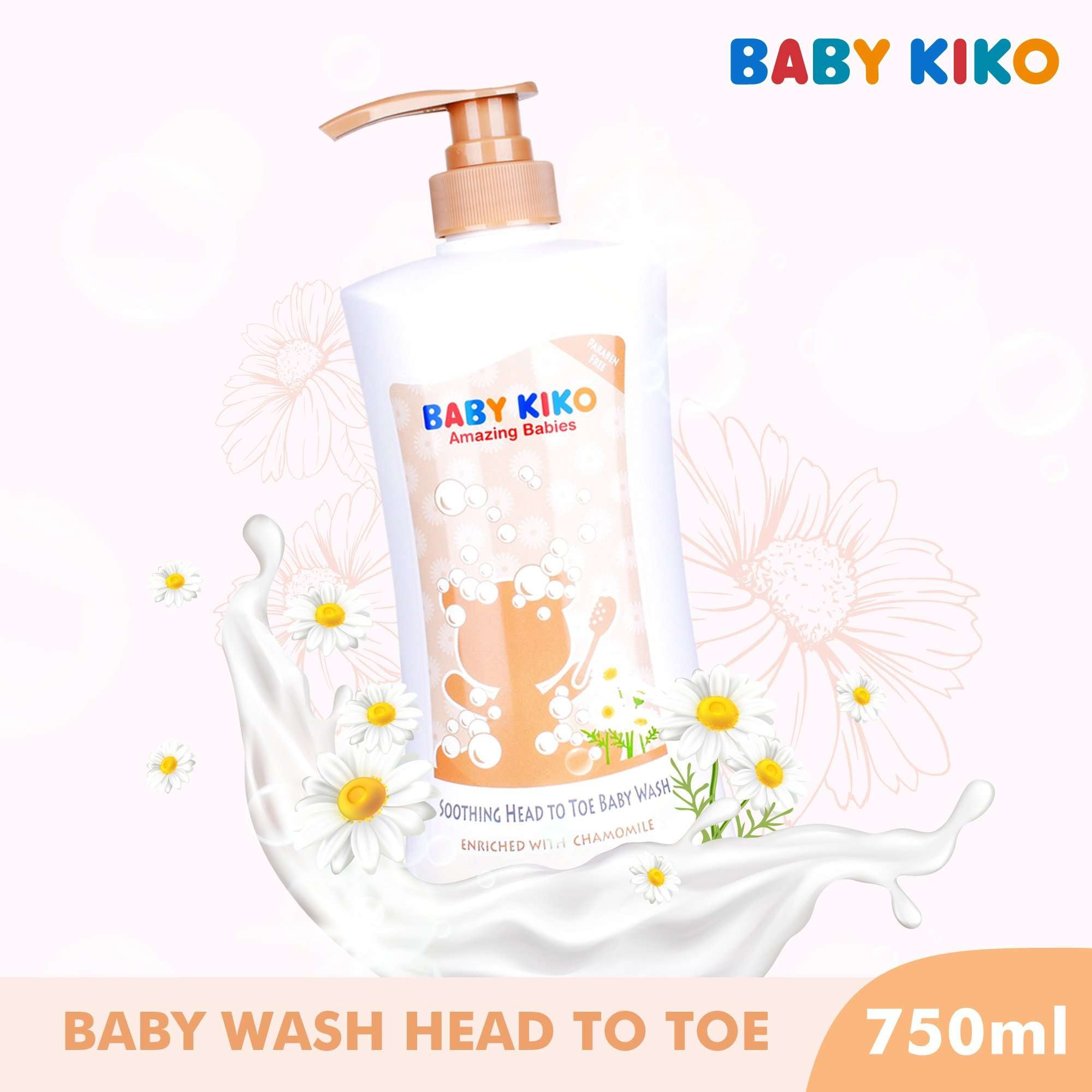 Baby KIKO Smothing Head To Toe Body Wash Enriched With Chamomile - 750ml 3652-002 : Buy Baby KIKO online at CMG.MY