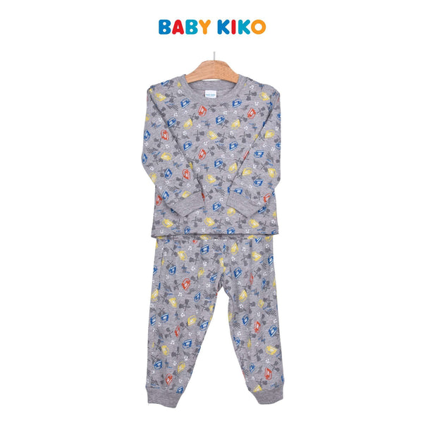 Baby KIKO Toddler Boy Long Sleeve Long Pants Suit - Light Grey 325152-431 : Buy Baby KIKO online at CMG.MY