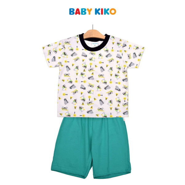 Baby KIKO Toddler Boy Short Sleeve Bermuda Suit- Green 325193-411 : Buy Baby KIKO online at CMG.MY