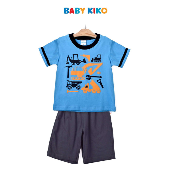 Baby KIKO Toddler Boy Short Sleeve Bermuda Suit- Navy 325193-413 : Buy Baby KIKO online at CMG.MY