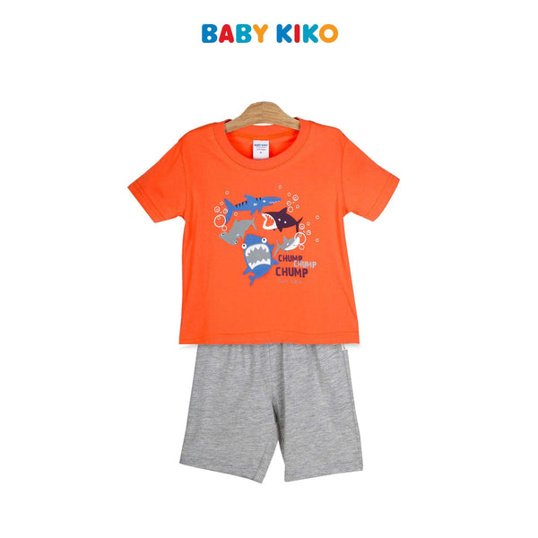 Baby KIKO Toddler Boy Short Sleeve Bermuda Suit 325149-412 : Buy Baby KIKO online at CMG.MY