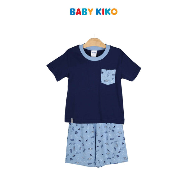 Baby KIKO Toddler Boy Short Sleeve Bermuda Suit 325149-413 : Buy Baby KIKO online at CMG.MY