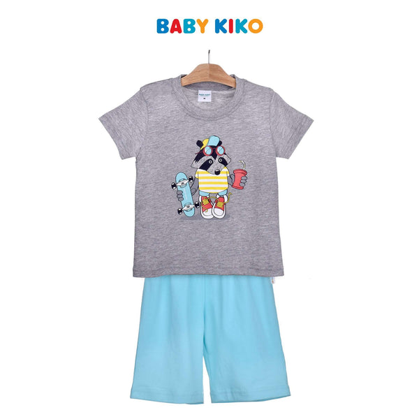 Baby KIKO Toddler Boy Short Sleeve Bermuda Suit-Melange 325156-413 : Buy Baby KIKO online at CMG.MY