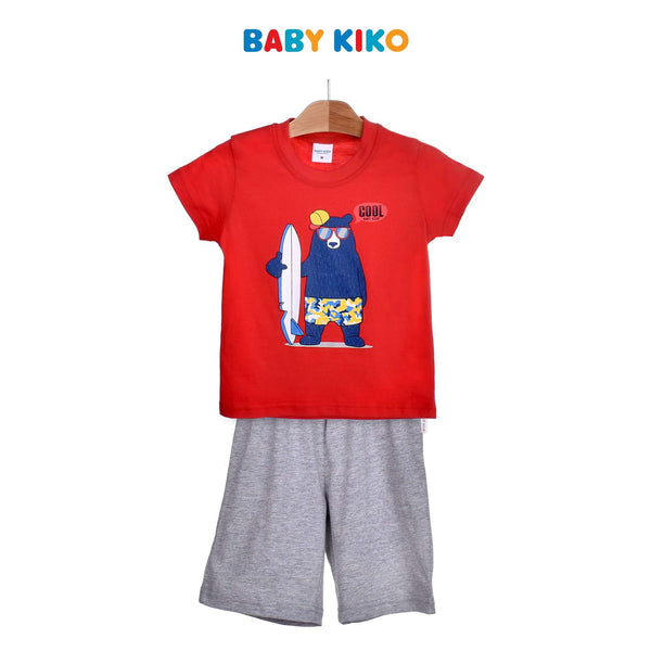 Baby KIKO Toddler Boy Short Sleeve Bermuda Suit-Red 325156-412 : Buy Baby KIKO online at CMG.MY