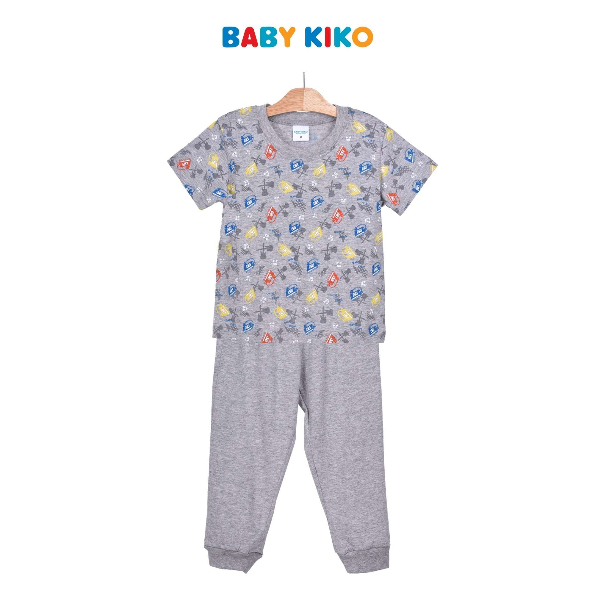 Baby KIKO Toddler Boy Short Sleeve Long Pants Suit - Light Grey 325152-421 : Buy Baby KIKO online at CMG.MY
