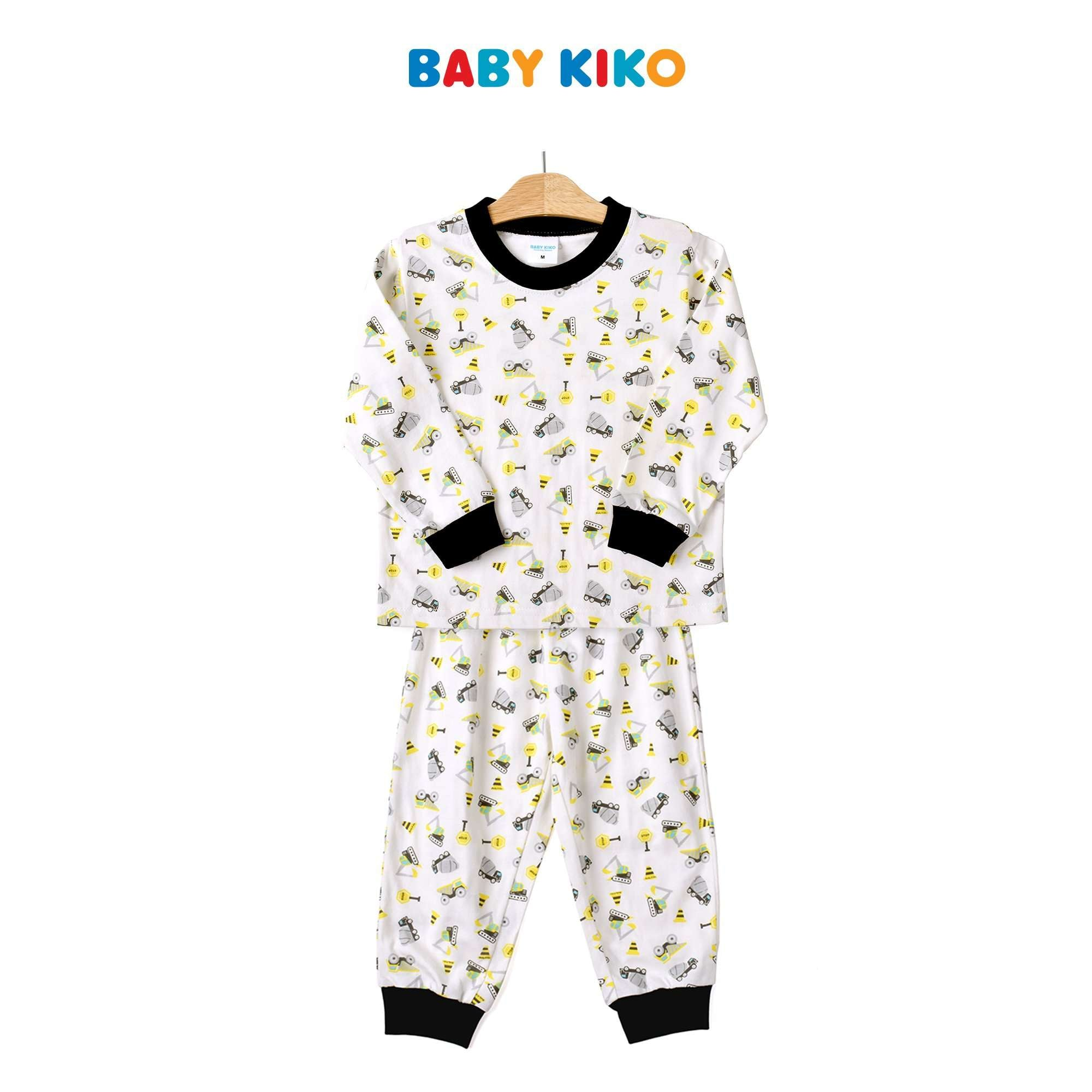 Baby KIKO Toddler Boy Short Sleeve Long Pants Suit- White 325192-431 : Buy Baby KIKO online at CMG.MY