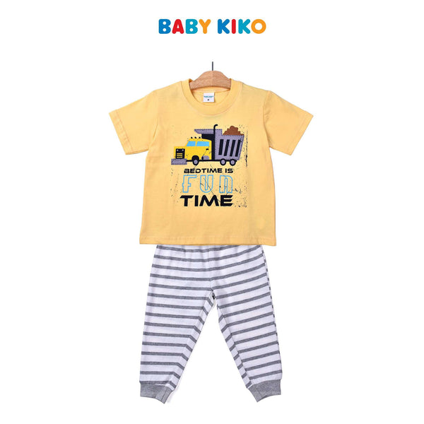 Baby KIKO Toddler Boy Short Sleeve Long Pants Suit- Yellow 325192-421 : Buy Baby KIKO online at CMG.MY