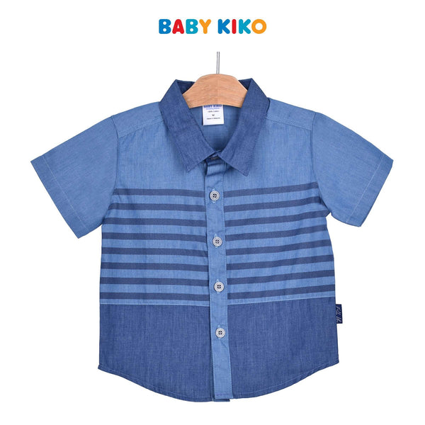 Baby KIKO Toddler Boy Short Sleeve Shirt - Blue 315136-141 : Buy Baby KIKO online at CMG.MY