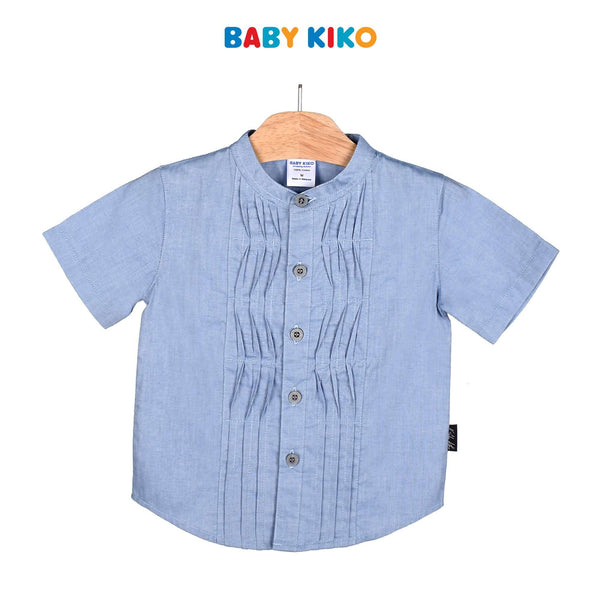 Baby KIKO Toddler Boy Short Sleeve Shirt - Khaki 315137-143 : Buy Baby KIKO online at CMG.MY
