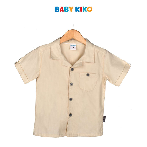 Baby KIKO Toddler Boy Short Sleeve Shirt- Khaki 315137-142 : Buy Baby KIKO online at CMG.MY