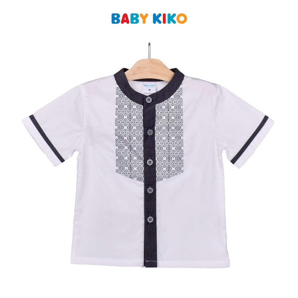 Baby KIKO Toddler Boy Short Sleeve Shirt- White 315137-141 : Buy Baby KIKO online at CMG.MY