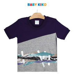 Baby KIKO Toddler Boy Short Sleeve Tee - 335107-111 : Buy Baby KIKO online at CMG.MY